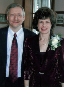Photo of downsized Lutheran Elementary Teacher, David, and his wife, Vicki, who founded this Ministry for downsized workers.